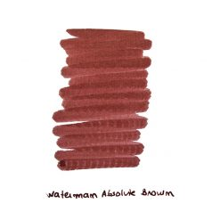 Waterman Absolut Brown Ink Sample
