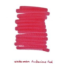 Waterman Audacious Red Ink Sample