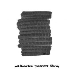 Waterman Intense Black Ink Sample