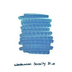 Waterman Serenity Blue Ink Sample