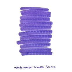 Waterman Tender Purple Ink Sample