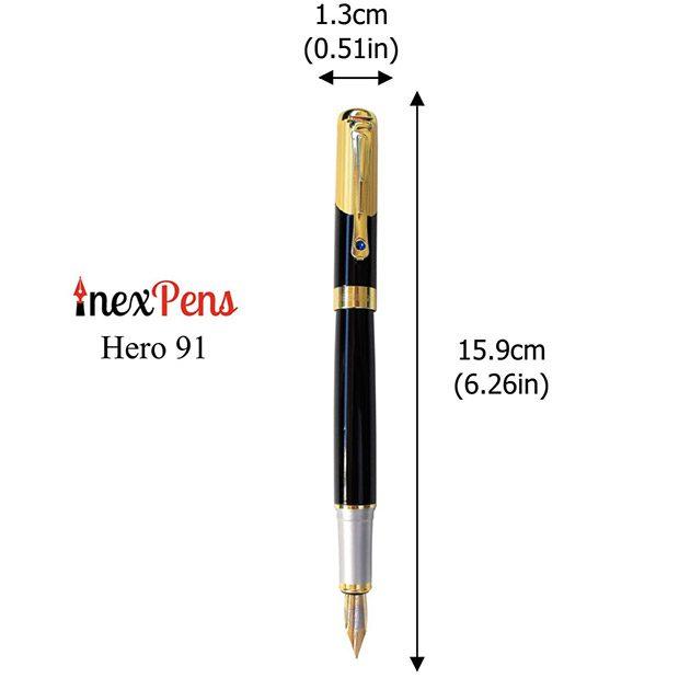 Hero-91-Fountain-Pen-Dimensions