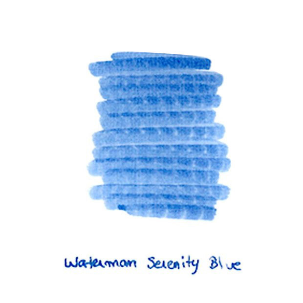 Now Available: Waterman Serenity Blue Ink Sample